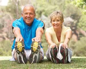 mature fitness couple