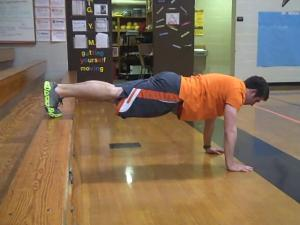 elevated foot push-ups